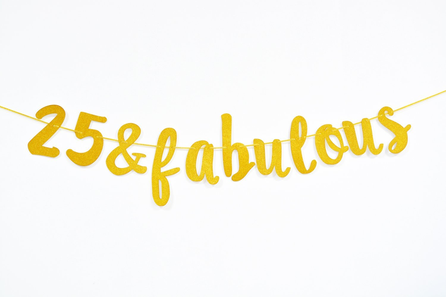 Get Quotations Firefairy 25 Fabulous Cursive Banner Happy 25th Birthday Anniversary Party Supplies Ideas And