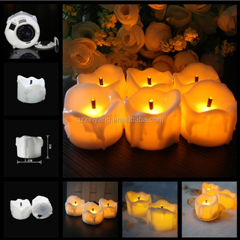 2016Top Selling Yellow Flameless Feature Led Candle Light ,Christmas Candle With Black Wick