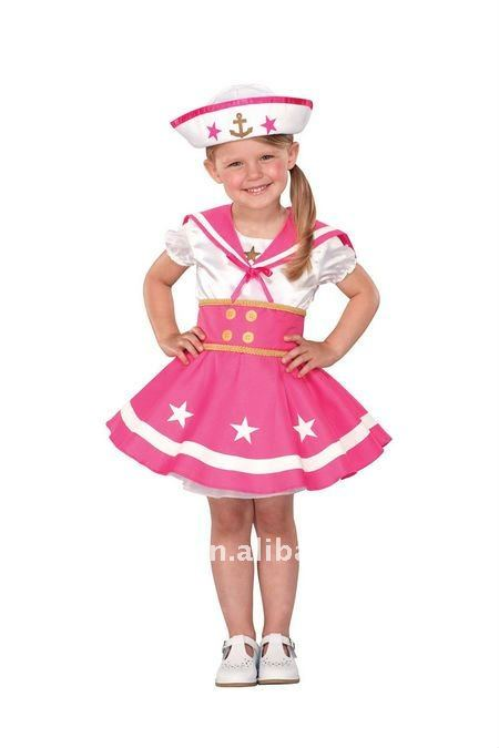 Little Toddler Sailor Halloween Costume For Girls TZ-69016