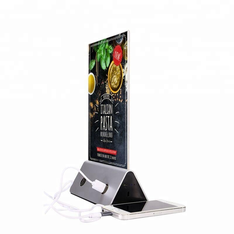 2018 trending products restaurant advertising Menu Power Bank