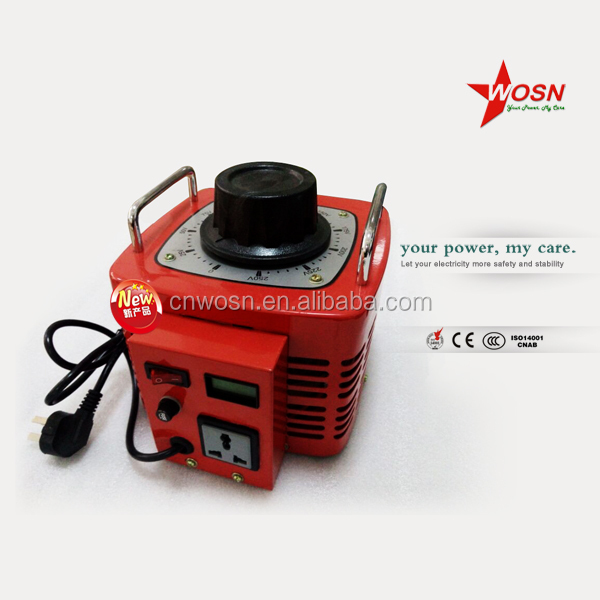 TDGC2-0.5kva single phase dry type self-cooled adjustable contact type power manual voltage regulator