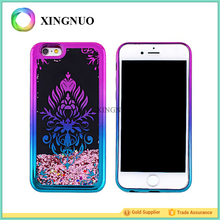 China Manufacturer Mixed Designs Waterfall Gradient Electroplating TPU Custom Glitter Water Liquid Phone Case For iPhone 7