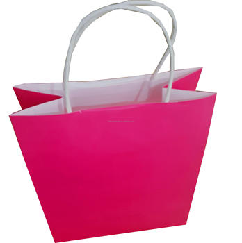 Machine Making Dark Pink Plain Color Craft Paper Bag Buy Machine