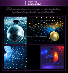 360 degree Rotating disco mirror ball with led base