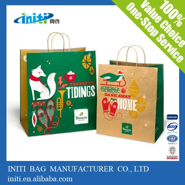 2016 High Quality <strong>Fashionable</strong> In Alibaba Customized kraft Paper Bag China