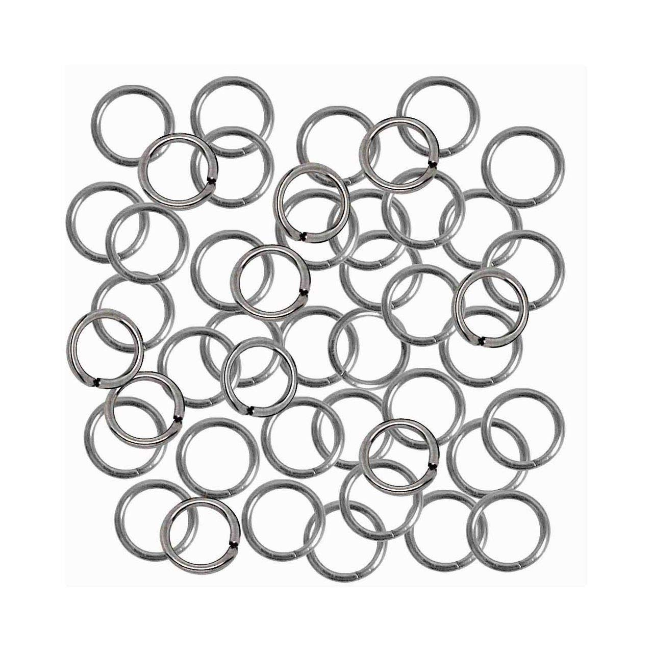 7mm 8mm 9mm 304 Jewelry Grade Stainless Steel Jump Rings Chain Links U-Pick 17 Guage 6mm Od