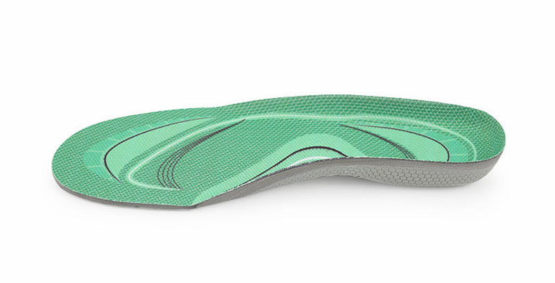 High Arch Support Orthotic Insoles for Wide Feet Extra Wide Shoes, Unisex, Green Sports Shoe Insoles Inserts
