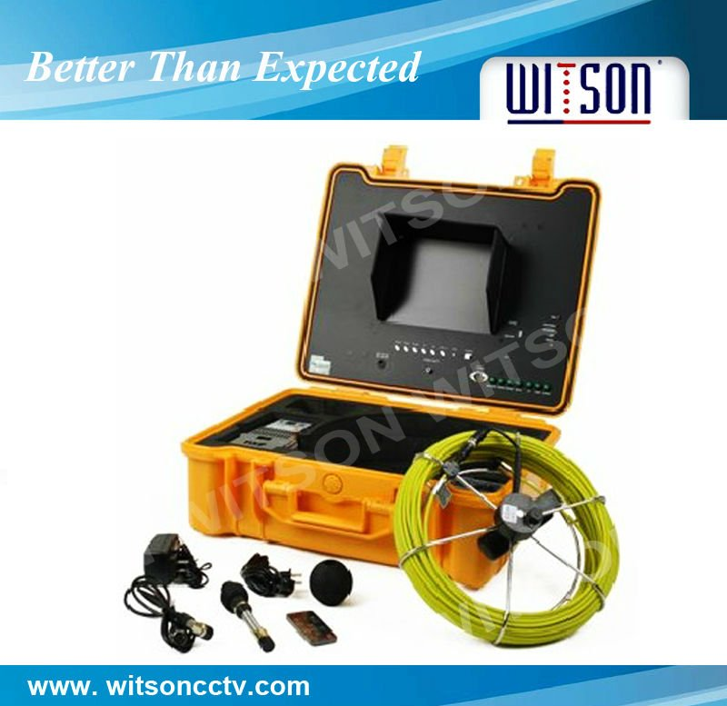 WITSON CCTV underwater inspection camera with DVR for sewers and wells