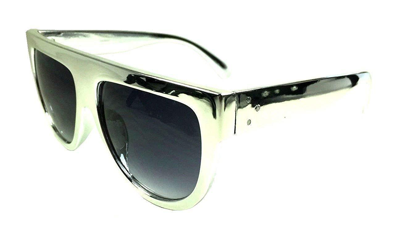 Get Quotations · Retro Metallic Round Flat Top Sunglasses 51f29b9e707