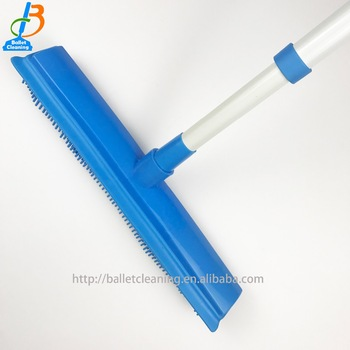 plastic household cleaning tools TPR carpet cleaning brush carpet cleaning equipment broom with squeegee
