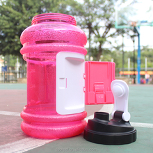 small mouth 2.5L water bottle with storage compartment/bottle NEW 2.2L WATER BOTTLE