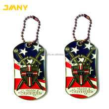Factory Directly Free-Artwork Design Brass Die Struck Military Dog Tag