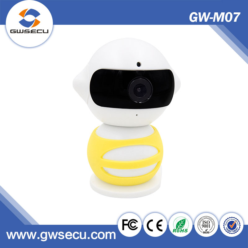 GWsecu base robot smart home hd wireless ip camera support P2P phone control and view SD Card