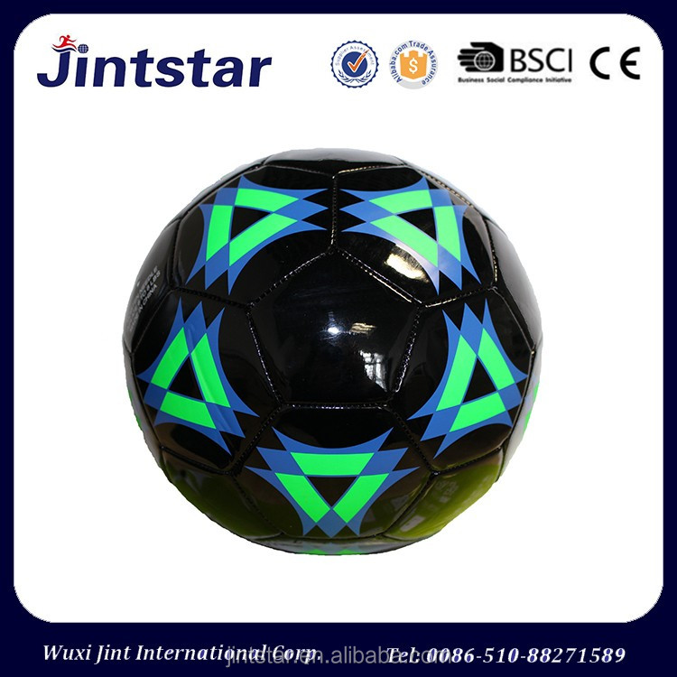 New design Custom PVC EVA Machine Stitched Soccer balls footballs with official size and weight