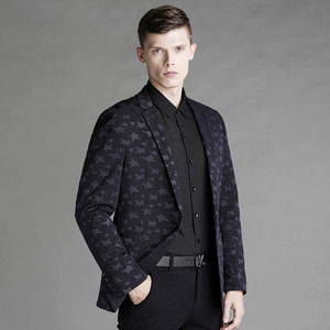 Mens Slim Fit Jacquard start Sport Coat/Blazer