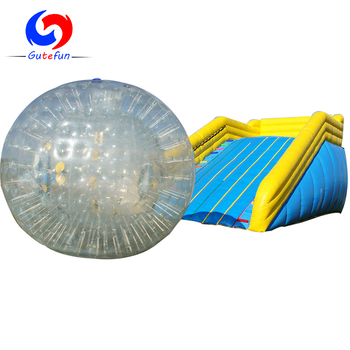 outdoor exciting games giant inflatable ramp 3m tpu body zorb ball for sale