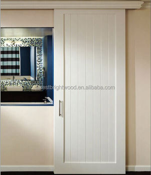 New Design Sliding Wooden Door With Top Valance And Sliding