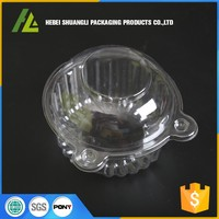 Hinged High Dome Lid Clear Plastic Cupcake Containers