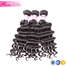 Hot selling new design models human extension virgin hair bundle, high quality loose wave 8a virgin human color hair