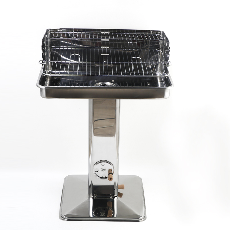 Professional Cylinder Table Top Commercial Charcoal BBQ Grill Charcoal BBQ Grill Stainless Steel BBQ grill