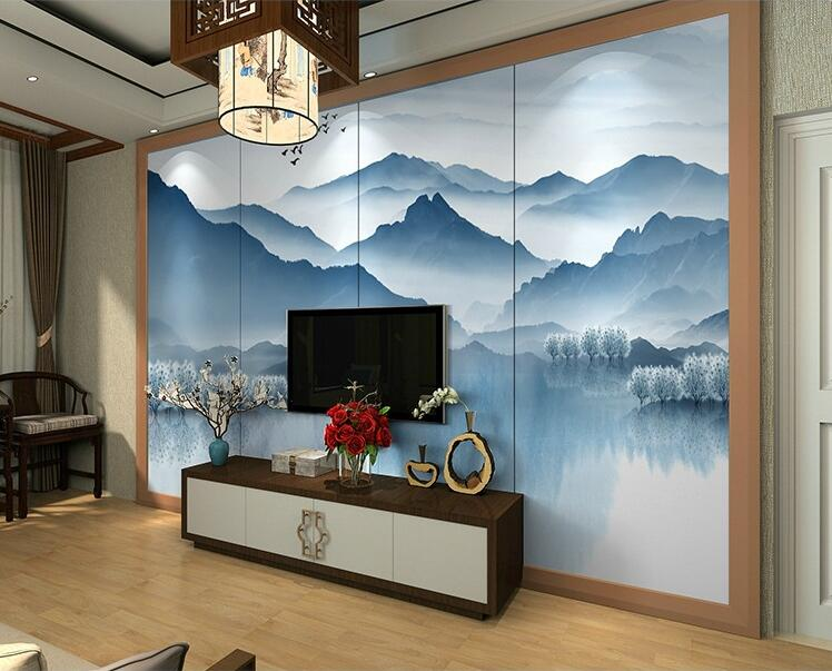 Chinese Style Seamless Mural Wallpaper 3d Home Decor Tv ...