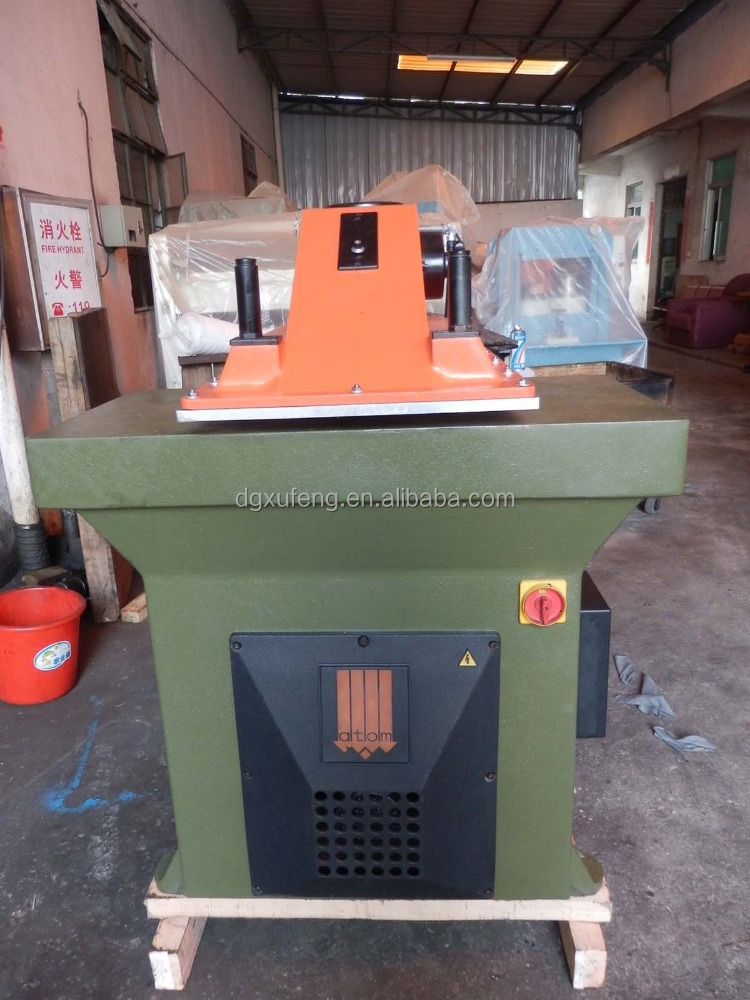 hydraulic leather processing machine