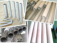 stainless steel glass railing welded stainless steel pipes/tubes
