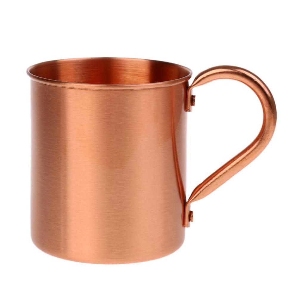 新しい2020 420ml純粋な銅マグカップモスクワミュールコーヒーマグ500mlビール飲むカクテルキャンプカップ銅ドリンクバービールカップ