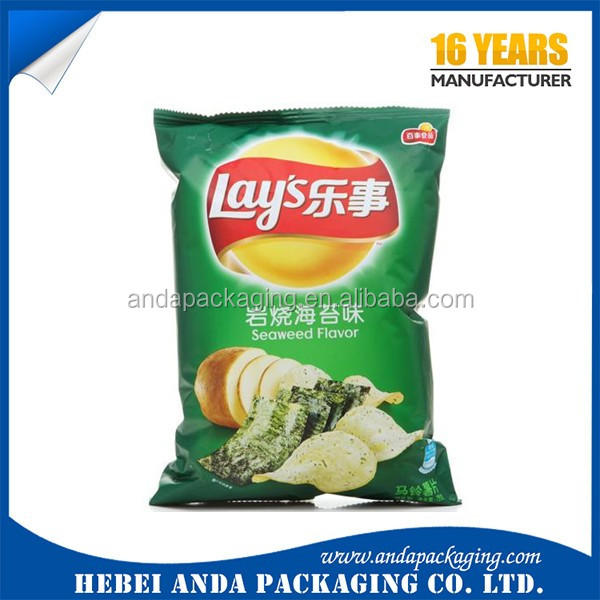 Lay's Potato Chips Packaging Material Food Packaging Bag/chips Snack  Aluminum Plastic Packaging Bag - Buy Potato Chips Packaging Material,Snack
