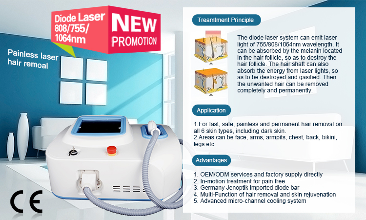 laser beauty equipment 808nm diode laser hair removal machine/beauty machine