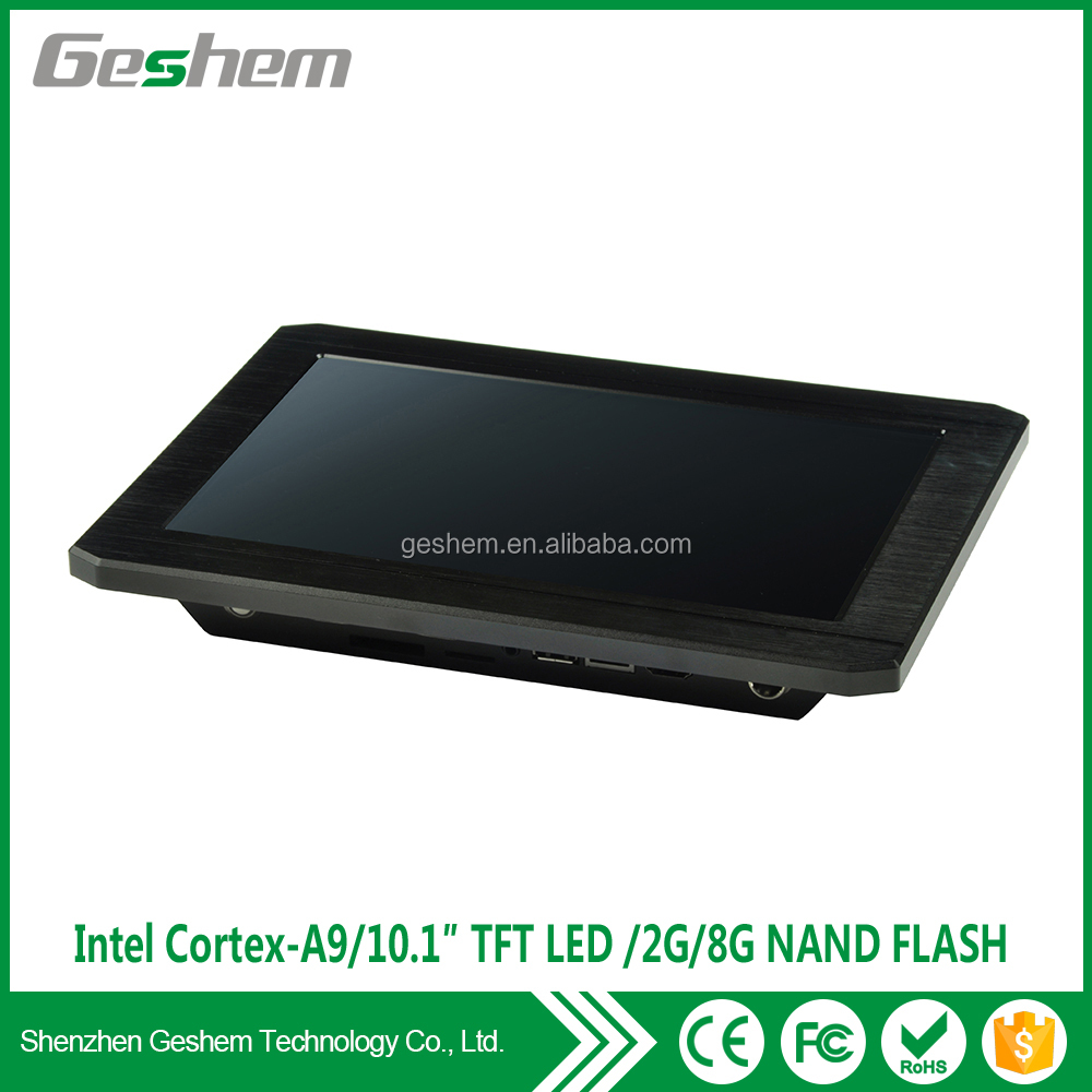 Aluminium composite panel case Geshem PPC-GS1091T 10.1 inch android industrial touch screen panel pc with BlueTooth4.0 and HMDI