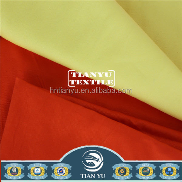 special finishes fabric TC 65/35 Solid Dyed TC Twill Fabric