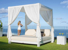 wicker furniture moon daybed outdoor canopy lounge