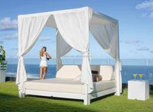 korbmbel mond tagesbett outdoor baldachin lounge - Tagesliege Im Freien Mit Baldachin