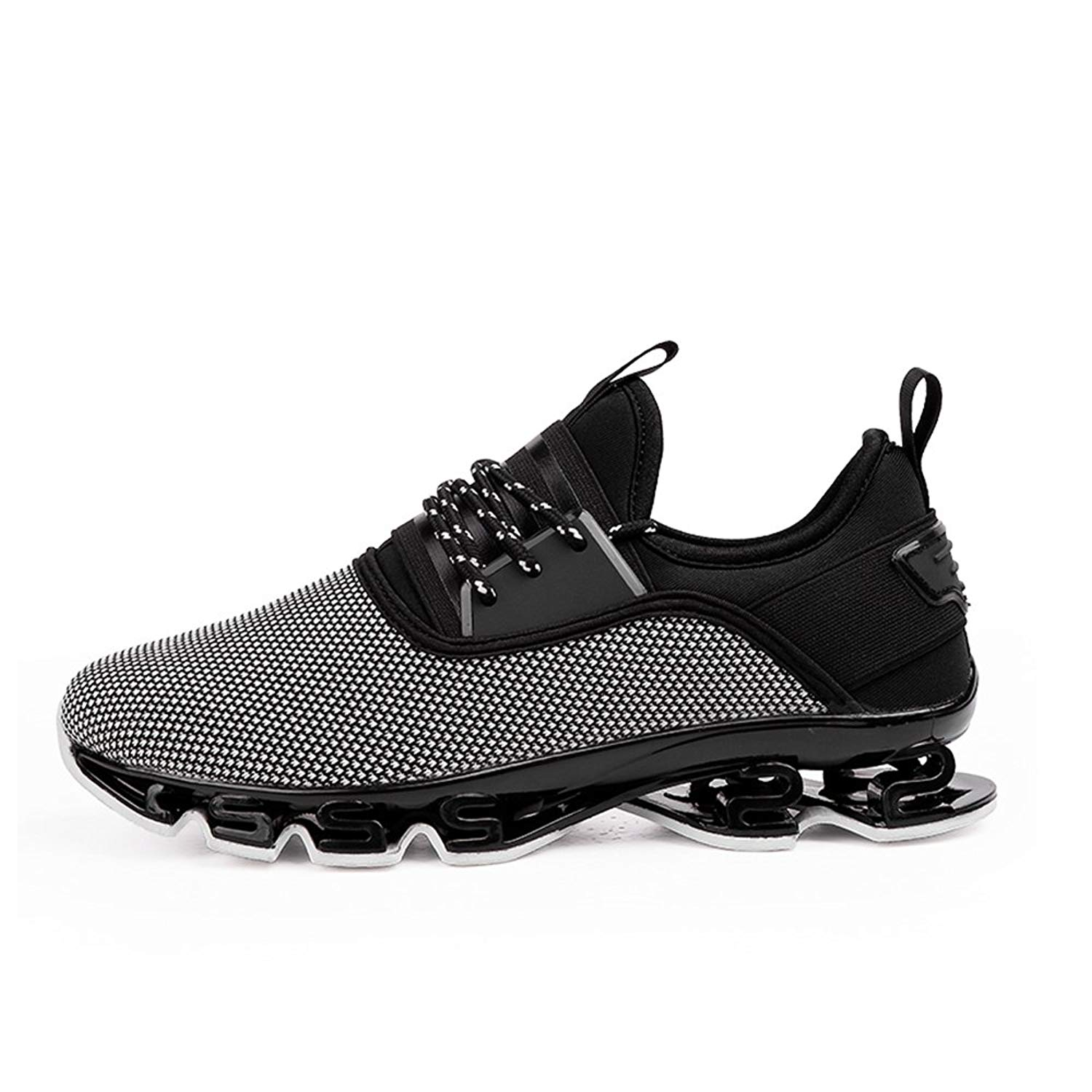 80acc0c2753f Get Quotations · HooyFeel Men s Non-Slip Sneaker Breathable Mesh Athletic  Running Shoes Walking Springblade Sport Shoes