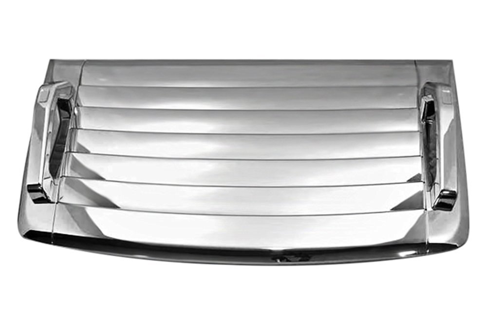 Kasei H3-VCW Hummer H3 Side Air Intake Hood Vents Covers Chrome Moulding Bezel