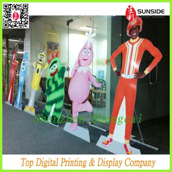 Standee Design 5mm Pvc Board Mount With Vinyl Sticker