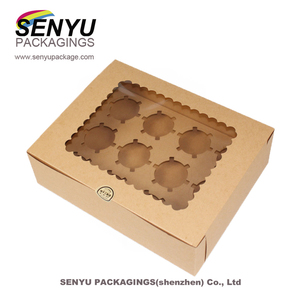 Cheap cupcake packaging boxes 12 with window