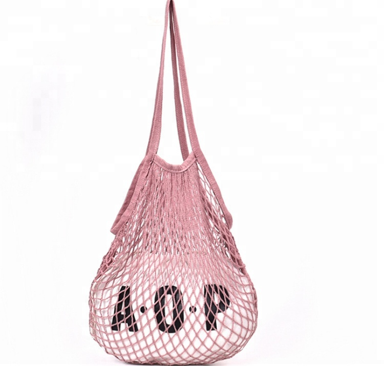 YLM custom design Fishnet Mesh Shopper Cotton Ecology Market String <strong>totes</strong> Hand Grocery Net Bags with inner <strong>tote</strong>