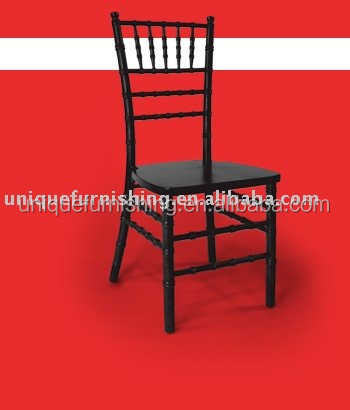 Wholesale Black Wooden Wedding Tiffany Chair