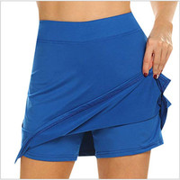 Performance Active Skorts Skirt womens pencil skirts womens Running Tennis Golf Workout Sports Natural Mar