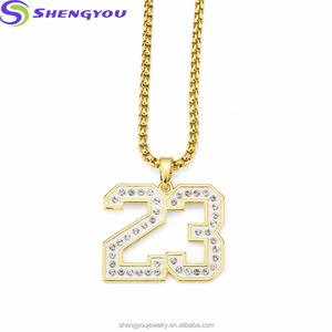 High Quality Alloy Necklace No.23 Clay Pendant Gold Statement Necklace Jewelry