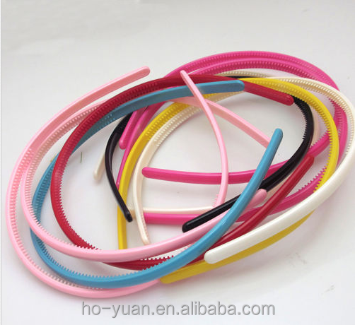 5mm width canly color cute cheap ABS plastic headband to decorate children hairband