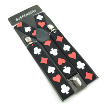 Подтяжки для мужчин, Эластичные подтяжки для брюк, держатель для брюк, ремень 3,5 см, игровые карты, карты для покера, подтяжки(Китай)