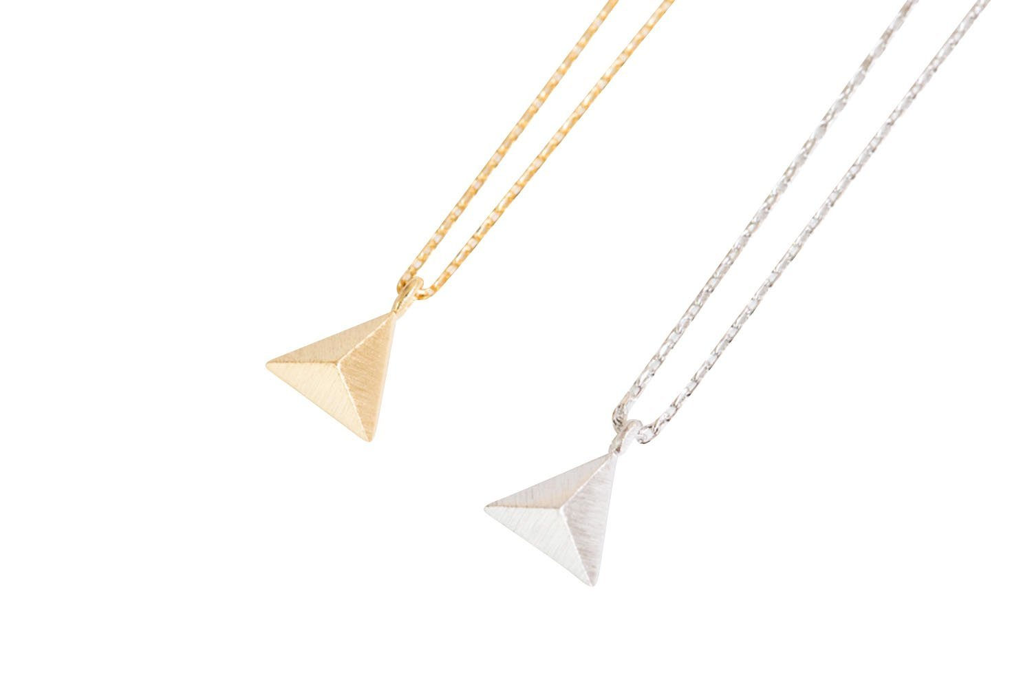 Solid Triangle Necklace-es , triangle jewelry, triangle necklace, triangle shape jewelry, triangle shape necklace, triangle jewellry, geometric jewe