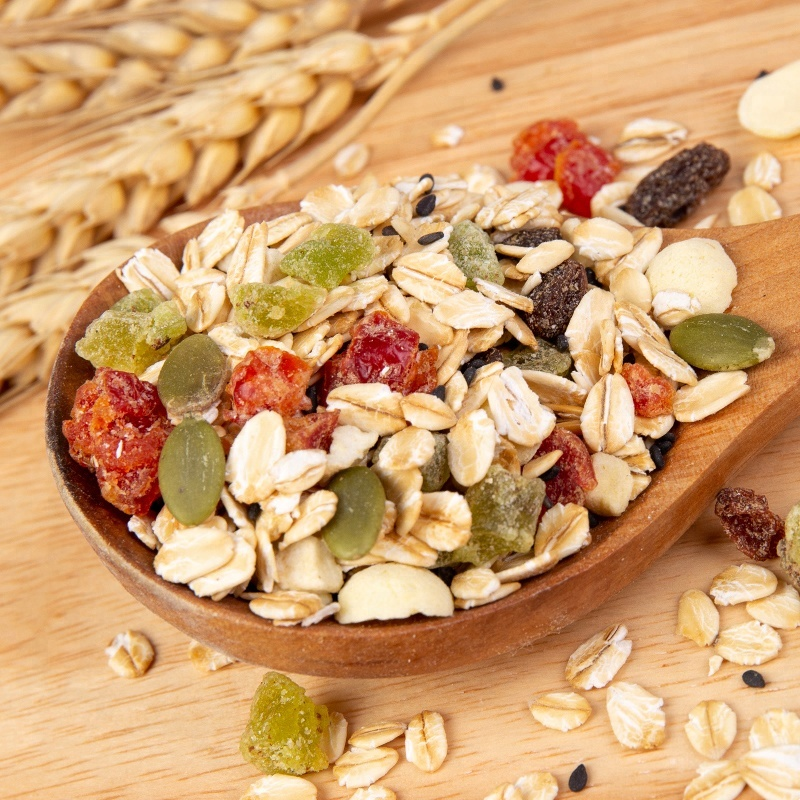 Nutrition cereal breakfast muesli, fruit oatmeal