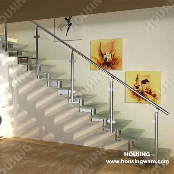 edelstahl glasgel nder treppe f r den innen oder au enbereich l form u form gerade treppe. Black Bedroom Furniture Sets. Home Design Ideas