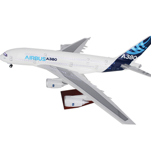 45CM Airbus 380 airplane model with LED attached USB cable handmade diecast model for office decoration business gift hot sale