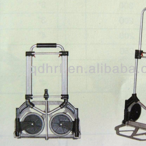 Shopping Hand truck, Aluminum Folding hand trolley /moving foldable hand cart