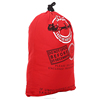 Wholesale Red Soft cloth canvas fabric and black Color Elk green printing Personalized New santa sacks with drawstring.